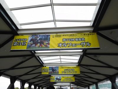 「京都競馬場90周年 あなたの最高のレースと馬を選ぼう!!」タペストリー