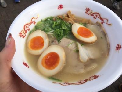 中村商店ラーメン・煮卵トッピング