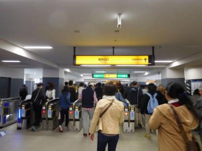 G1の時は淀駅も人でいっぱい