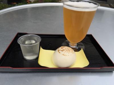 酒まんじゅうと日本酒&ビール