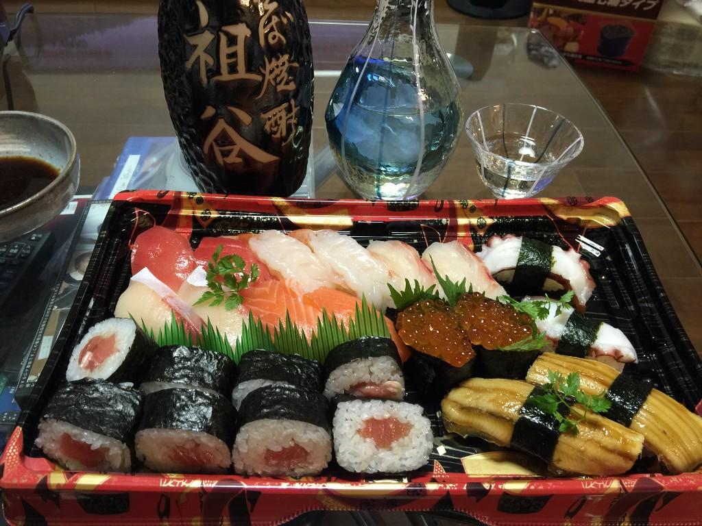 お家でお寿司