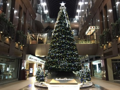 アプローズタワーのクリスマスツリー