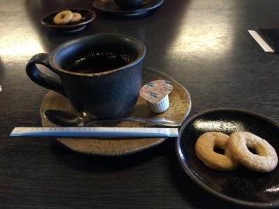 蕎麦菓子と珈琲