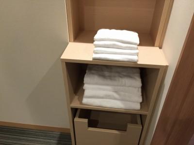 バスタオルと普通のタオル