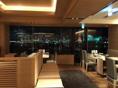 窓から神戸の夜警が見えて綺麗