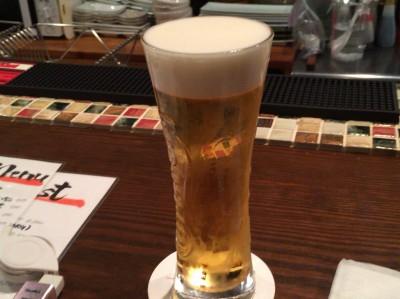 最初はやっぱりビール