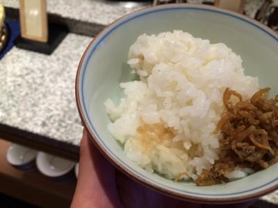 白ご飯とちりめん山椒