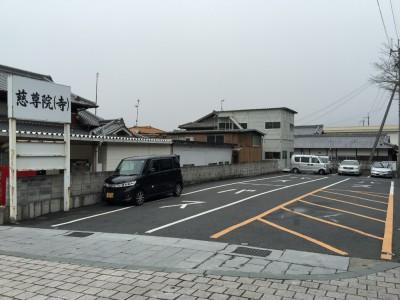 駐車場は狭いです
