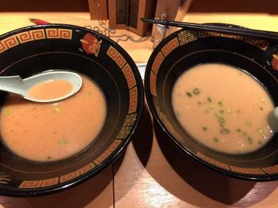 秘伝のたれ入りと無しのスープの違い