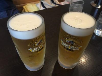 昼から生ビール