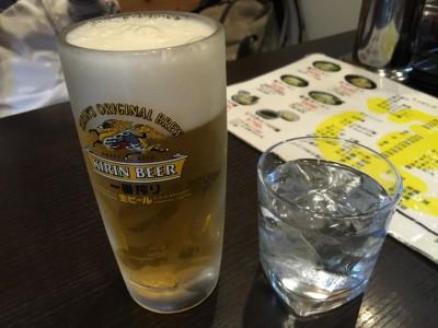 ビールと焼酎