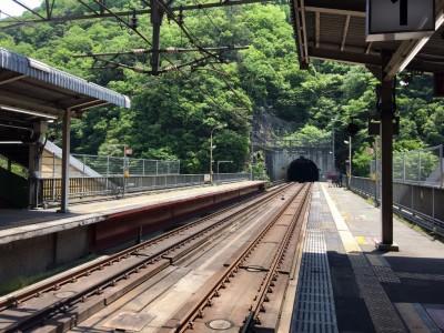 JR武田尾駅のホーム