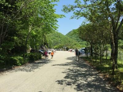武田尾の駐車場