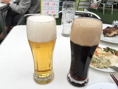 生ビールと黒生ビール