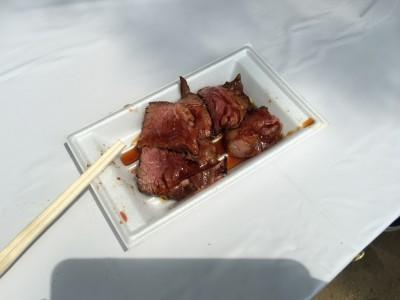 牛ハラミの炭焼きステーキ