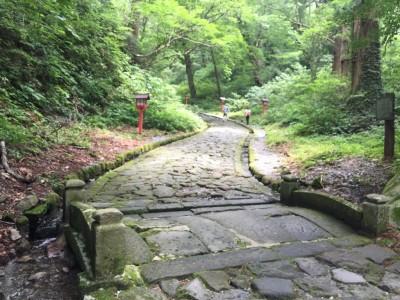 大神山神社奥宮・参道石畳1
