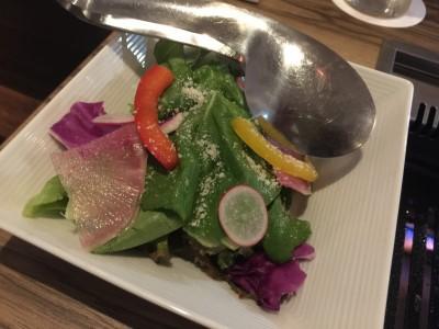 近江は野菜とパルメザンチーズのレモンドレッシング