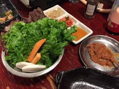 サムギョプサルセットの野菜