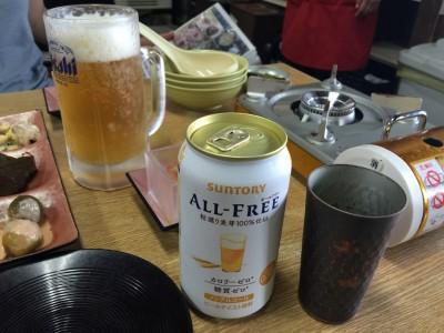 生ビールとノンアルコールビール