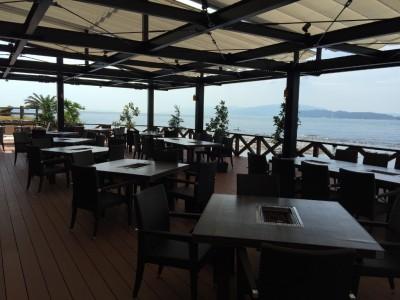 オープンカフェからの景色