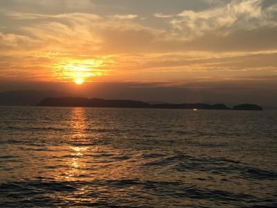 夕日がきれいな加太