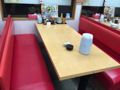 来来亭武庫之荘店テーブル席