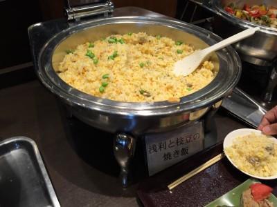 浅利と枝豆の焼き飯