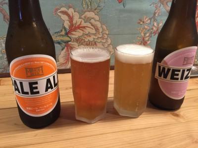 箕面ビール・ペールエールとヴァイツェン