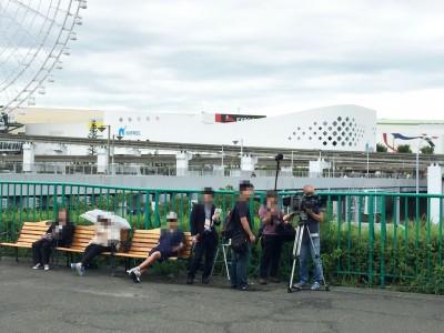テレビクルー(ABC放送)
