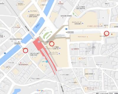 逆瀬川駅周辺・格安きっぷマップ