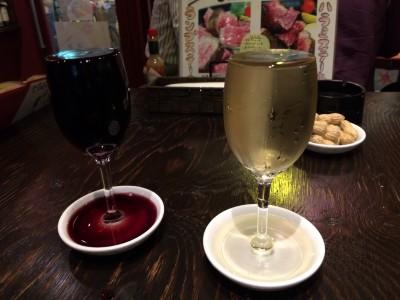 赤・白こぼれワイン