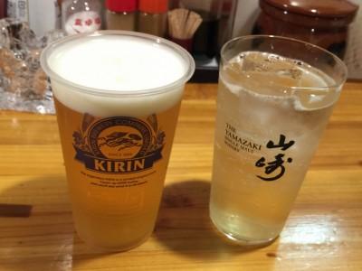 生ビールとジャックダニエル・ハニー