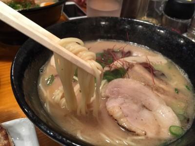 鶏そばの麺