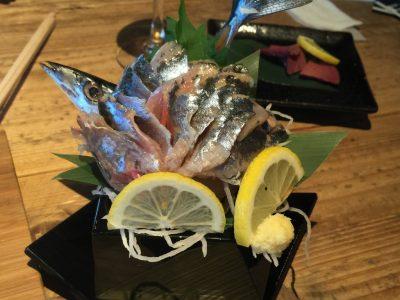 秋刀魚の姿造り