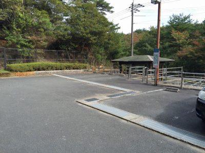 るり渓渓流遊歩道入口近くの駐車場2