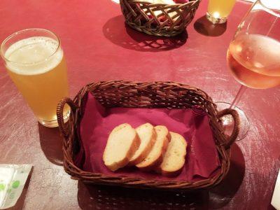 自家製パンとベルギーワイン&ロゼワイン