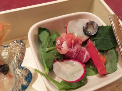 伊丹野菜と生ハムのバラ仕立て