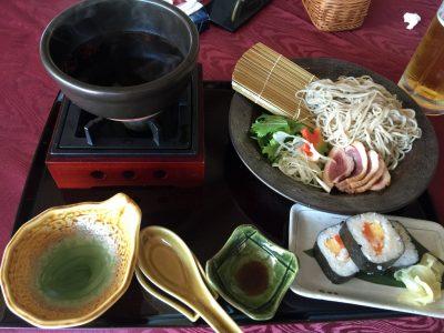 鴨せいろ蕎麦と巻き寿司