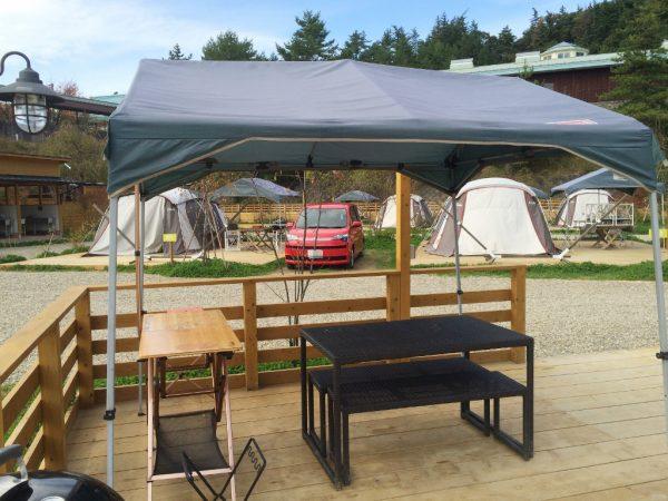 食事する場所のテント