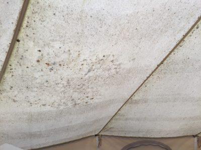 テントの外側の汚れ