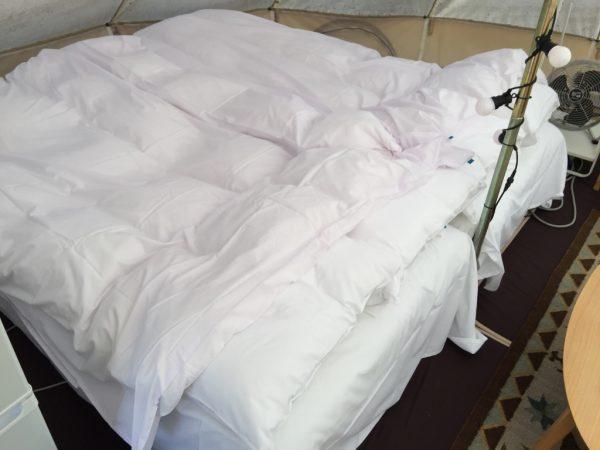 ベッドメイク完了