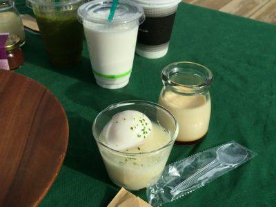 温泉卵とポテトサラダ・プリン
