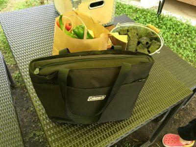 食材入り保冷バッグ