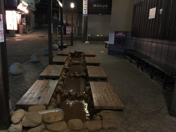 有馬本温泉「金の湯」の足湯