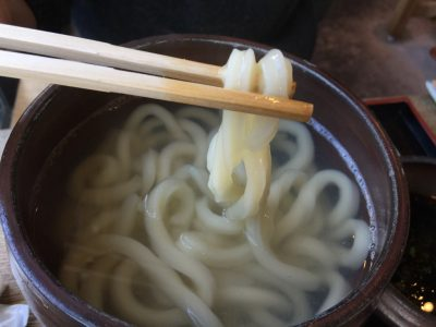 すじかまの「釜揚げうどん」の麺