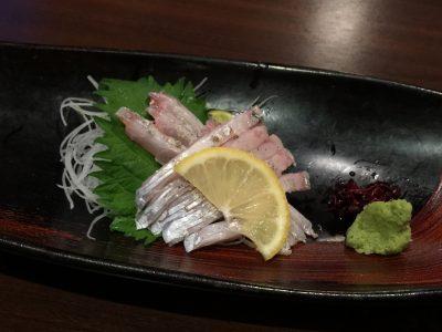 太刀魚のお造り
