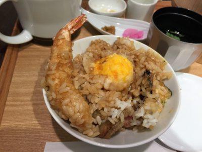 ひつまぶしセット食べ方(2)卵黄の天ぷら
