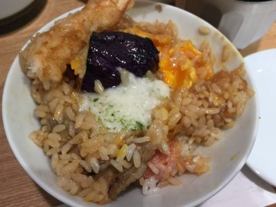 ひつまぶしセット食べ方(3)とろろ芋
