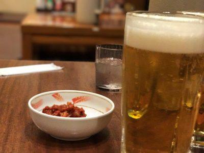 特選チャンジャと生ビール