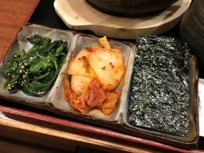 韓国のり、キムチ、ナムル